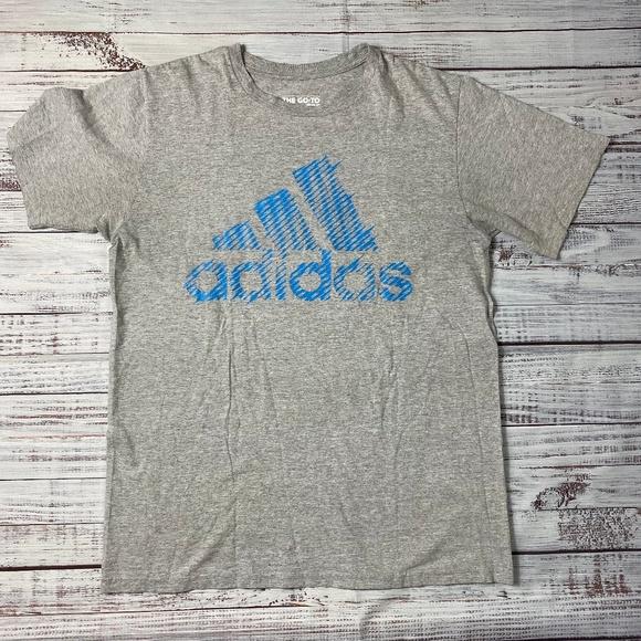 adidas Other - Adidas Grey/Blue Logo Vintage Tee